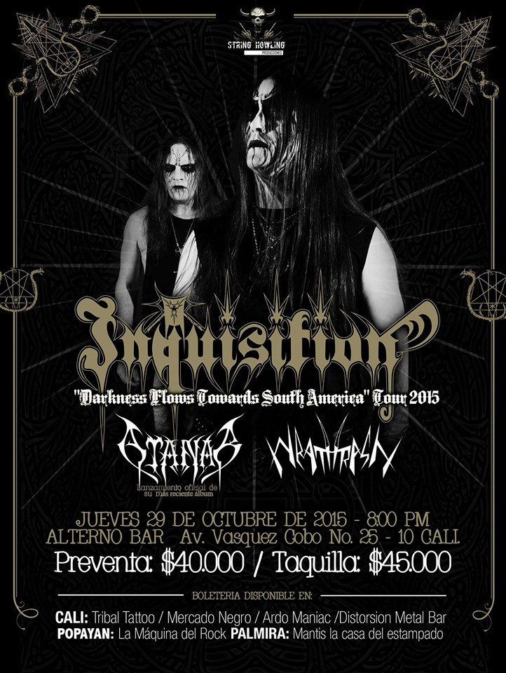 Flyer Inquisition en Cali